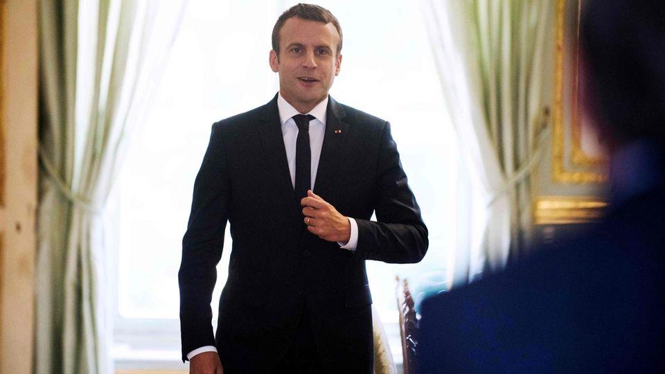 """Emmanuel Macron vor seinem ersten EU-Gipfel: """"Manche politische Führer mit zynischer Herangehensweise an Europa"""""""