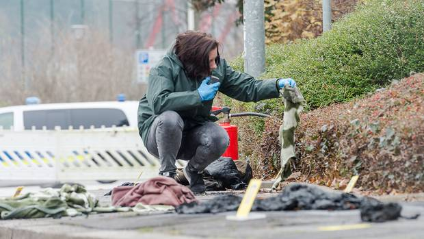 Die Spurensicherung am Tatort in Kiel