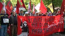 """WDR-Doku: Eine Demonstration in Berlin gedenkt der palästinensischen Katastrophe """"Nakba"""" von 1948"""