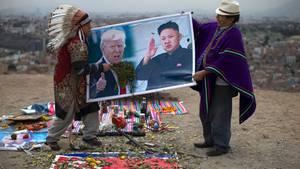 Donald Trump und Kim Jong Un in Peru