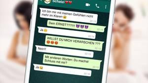 Ein nachgestellter WhatsApp-Verlauf