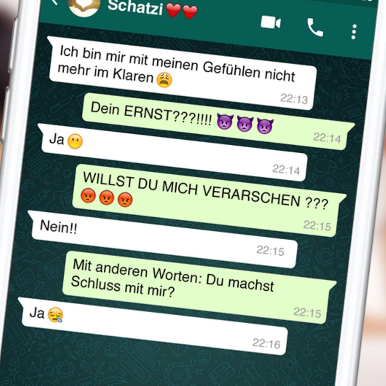 Beziehung whatsapp Was verletzt