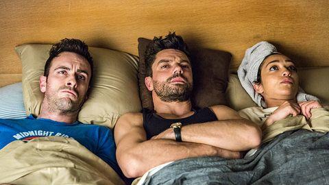 Cassidy, Jesse und Tulip im Bett