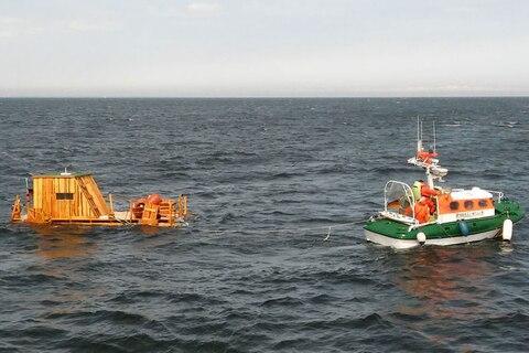 Nachrichten aus Deutschland: Männer auf selbstgezimmertem Floß im Unwetter aus der Ostsee gerettet