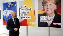 CDU-Generalsekretär Peter Tauber bei der Vorstellung der Plakate für die Bundestagswahl
