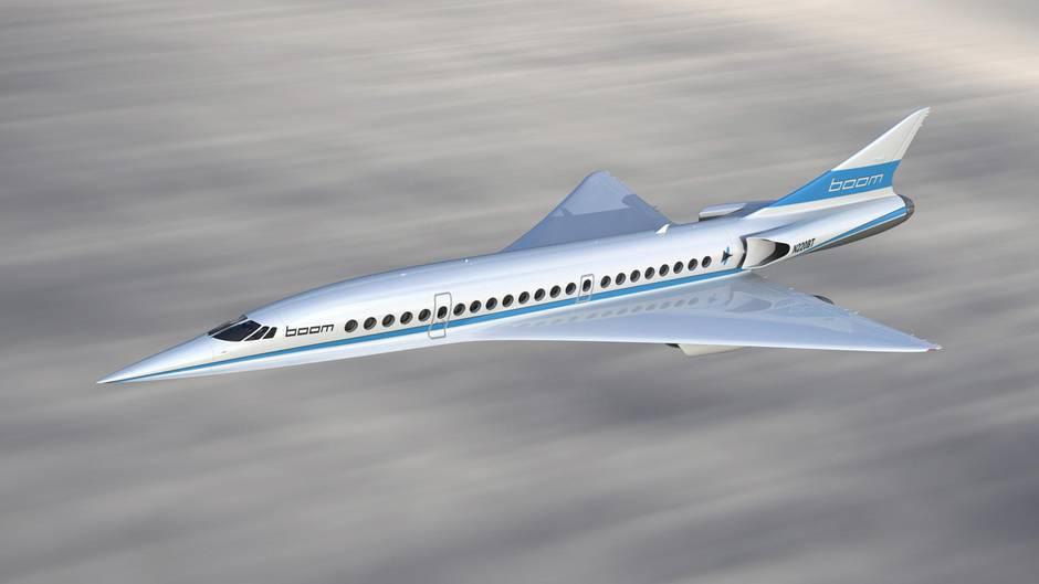 Überschall-Flugzeug Boom
