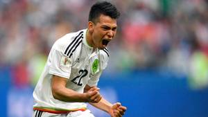 Confed Cup: Mexiko's Hirving Lozano feiert sein Tor