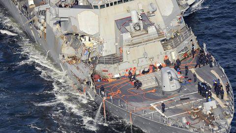 Die USS Fitzgerald wurde schwer getroffen.