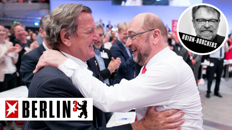 Martin Schulz und Gerhard Schröder