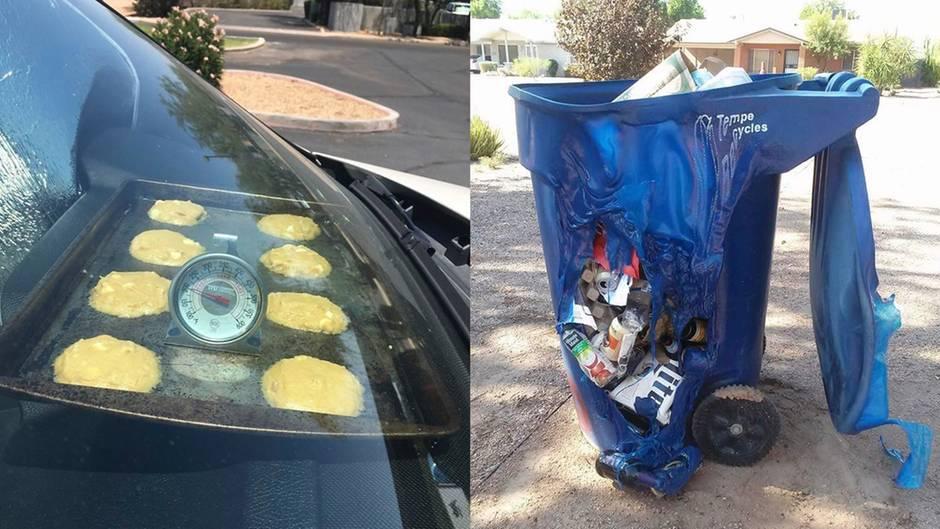 Hitzewelle in den USA: Arizona: Hier schmelzen sogar Mülltonnen in der Sonne