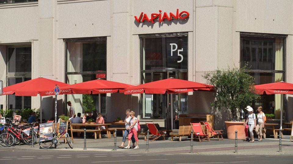 Ein Restaurant der Kette Vapiano am Potsdamer Platz in Berlin