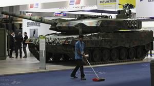 Rheinmetall-Panzer auf einer Rüstungsmesse in Abu Dhabi