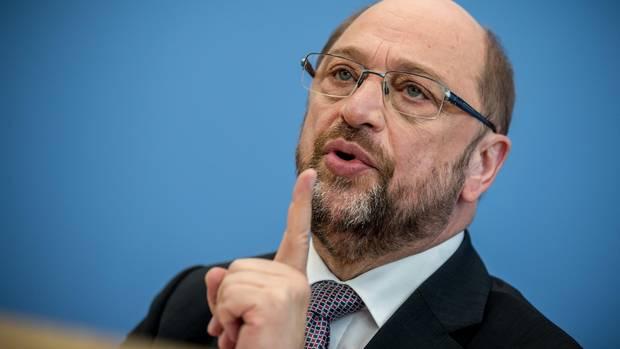 Ehe für alle: Martin Schulz während einer Pressekonferenz in Berlin