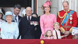 Die britischen Royals bei der Geburtstagsparade für die Queen