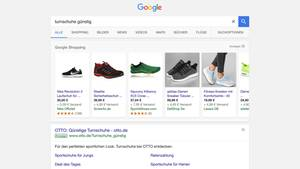 Die Google-Shopping-Suche (Screenshot)