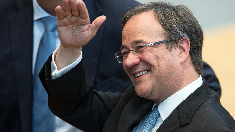 Der neue Ministerpräsident von NRW, Armin Laschet, im Düsseldorfer Landtag