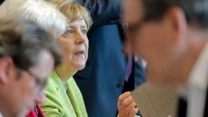 Angela Merkel musste sich in der CDU-Fraktion wegen der Ehe für alle einiges anhören