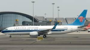 """Ein Flugzeug der Airline """"China Southern"""" konnte erst mit fünf Stunden Verspätung abheben (Archivbild)"""