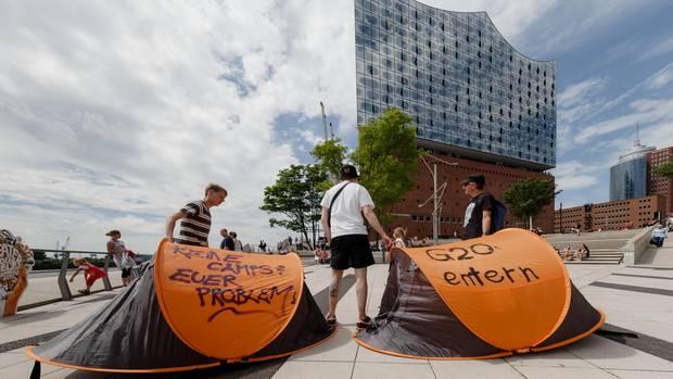 Proteste und Polizei in der gesamten Stadt: Hamburg steuert vor dem G20-Gipfel auf den Ausnahmezustand zu