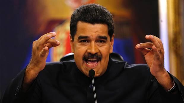 Präsident Maduro engagiert: Er will den Sozialismus in Venezuela notfalls mit Gewalt verteidigen