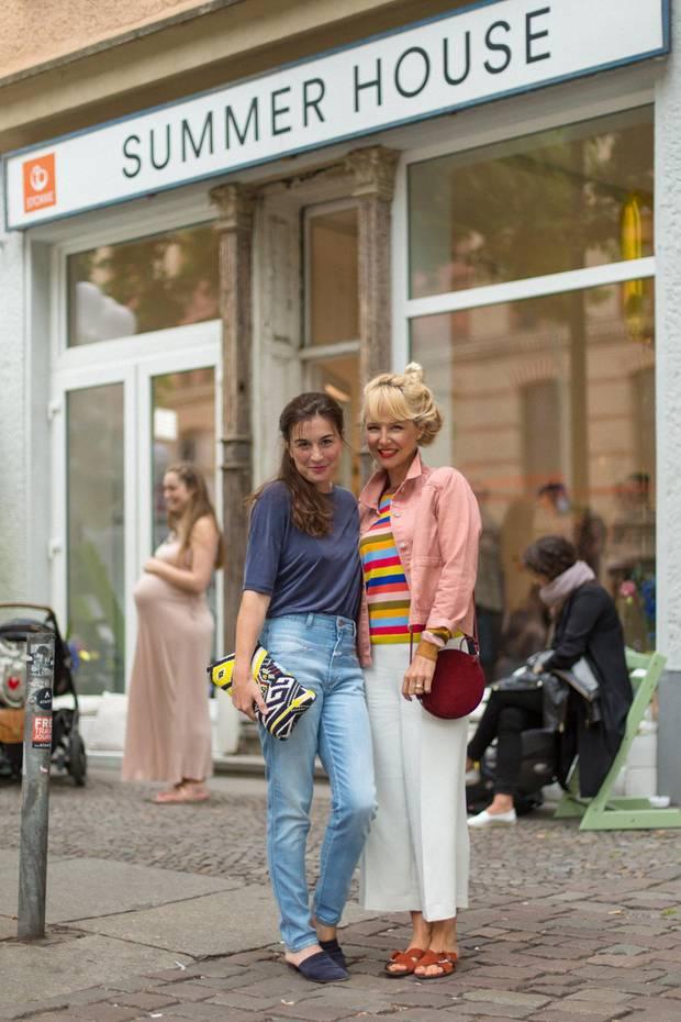 Janine (l.) und Saskia von Mummy Mag
