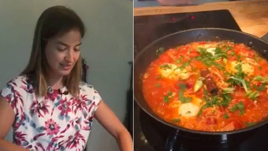 Die stern-Kochchallenge : Hier kocht unsere Genussredakteurin in 15 Minuten Shakshuka