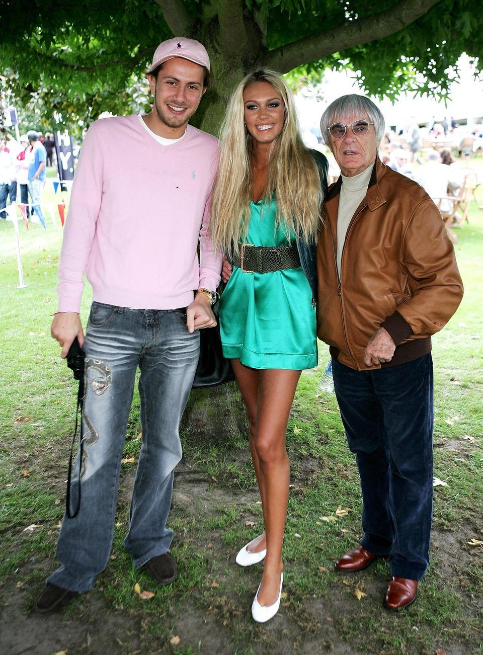 James Stunt, Petra Ecclestone und ihr Vater Bernie im Jahr 2007