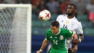 Bei einem Duell zwischen Mexikos Chicharito und Deutschlands Antonio Rüdiger fiel die vieldiskutierte Äußerung