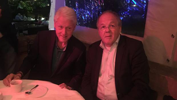Bill Clinton und Thomas Ammannn