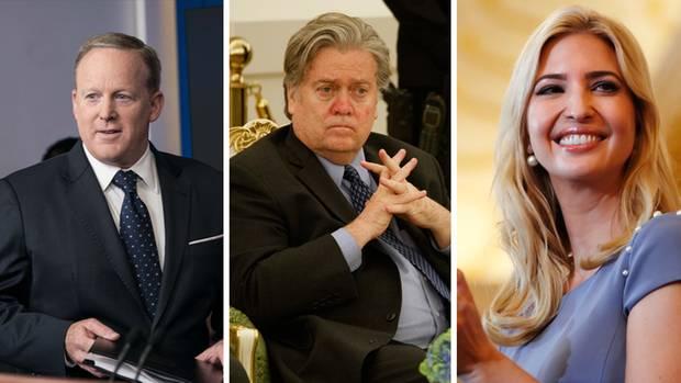Sean Spicer, Stephen Bannon und Ivanka Trump arbeiten im Weißen Haus für Donald Trump