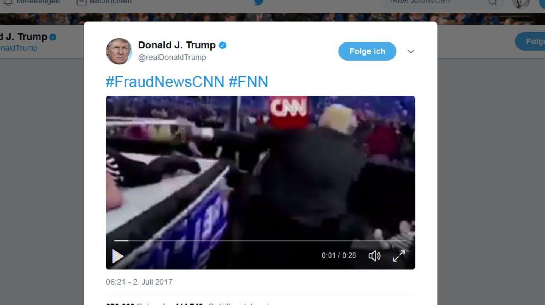 Donald Trump verprügelt CNN