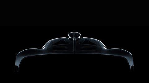Mit Einzelheiten hält sich AMG noch zurück - das ist die offizielleSilhouette.