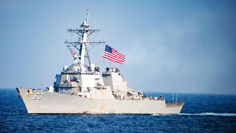 """USA provozieren China: Das US-Kriegsschiff """"USS Stethem"""" im Südchinesischen Meer"""
