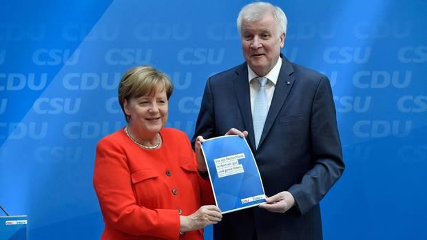 Angela Merkel und Horst Seehofer