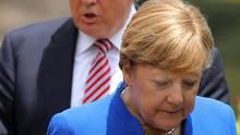Angela Merkel und Donald Trump beim G7-Gipfel in Italien