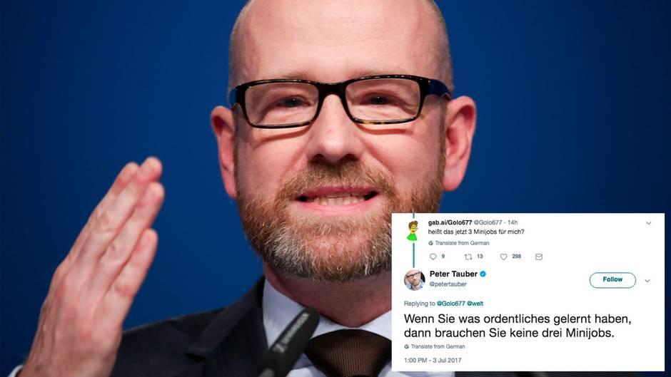Shitstorm: Peter Tauber beleidigt Minijobber auf Twitter