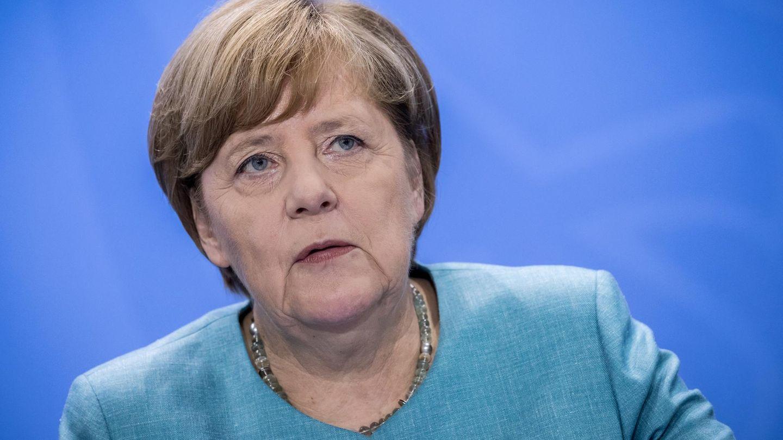 Bundeskanzlerin Angela Merkel während einer Pressekonferenz in Berlin