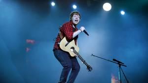 Ed Sheeran auf dem Glastonbury-Festival