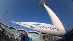 Rotorblatt eines Windrads der Firma Nordex