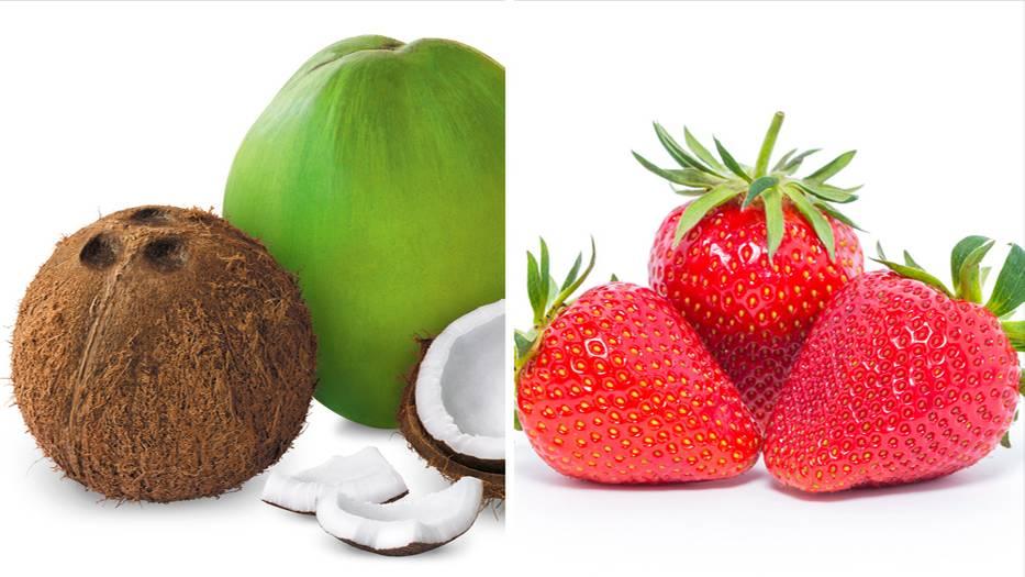 gut zu wissen warum kokosn sse eigentlich fr chte sind und erdbeeren n sse. Black Bedroom Furniture Sets. Home Design Ideas