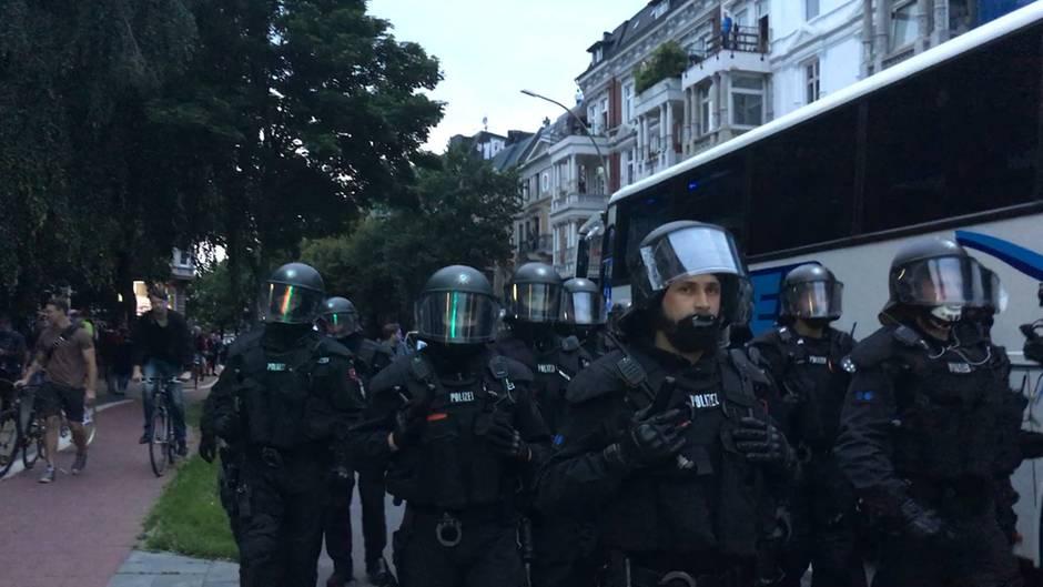 G20-Gipfel Hamburg: Der Polizei-Gipfel ist schon da