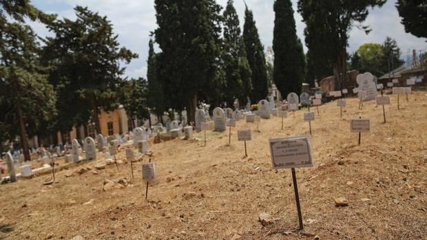 Auf dem Santa Maria dei Rotoli Friedhof in Palermo werden jene begraben, die ihre Flucht nach Europa nicht überlebten
