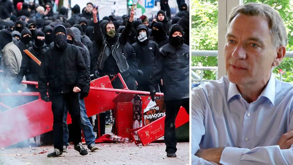 G20-Demo: Linken-Politiker Jan van Aken spricht sich nicht gegen Gewalt aus