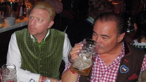 Boris Becker und Willi Beier