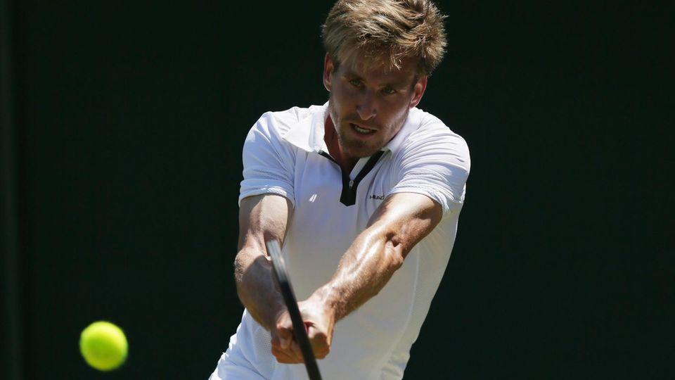 Wimbledon: Peter Gojowczyk aus Deutschland in Aktion gegen Agut aus Spanien
