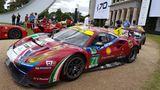 Ferrari darf nicht fehlen bei den Supersportwagen in Goodwood. Passend zum 70. Jubiläum wurde hier groß präsentiert.