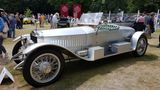 Rolls-Royce gehört zu Goodwood. Nur fünf Meilen vom Festival of Speed entfernt ist der Hersteller ansässig. Dieser Oldtimer ist eine Augenweide.