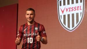 Lukas Podolski im Trikot des japanischen Vereins Vissel Kobe