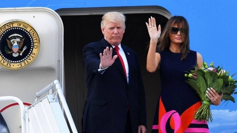 """Air Force, Marine One und """"The Beast"""": So verliefen Trumps erste Stunden in Hamburg"""