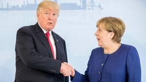 G20 in Hamburg: Angela Merkel und Donald Trump beraten sich vor Gipfel